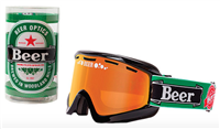 Beer Optics Heineken Snow Goggles