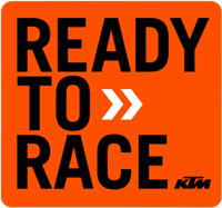 KTM Ready to race 8 inch sticker