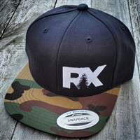 Rave X Camo and Black Snapback