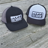 Rave X Black and Green Flexfit Hat