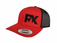Rave X Red Mesh Snap Hat