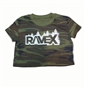 Rave X Womens Cropped Crew Tee
