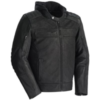 Tourmaster Blacktop Leather Jacket With Hood