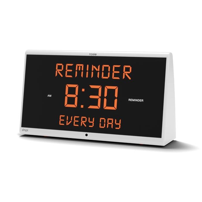 reminder rosie voice controlled alarm clock help prevent missing