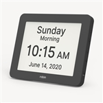 robin reminder day clock with alarm reminders for Alzheimer's, stroke, and dementia