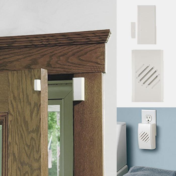 Door Alarm | Monitor with Remote Plug-In Alarm - Set