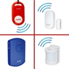 door alarm monitor with remote portable alarm kit for wandering Alzheimer's Autism dementia elderly SMPL motion sensor option expandable add on