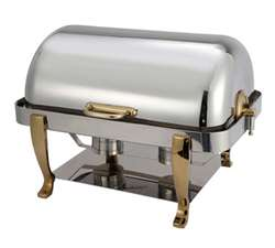 Winco Full Size Chafer With Gold Plated Handle & Leg, (108A)