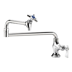 "Krowne 16-161L Deck Mount Pot Filler Faucet, 12"" Jointed Spout"