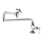 "Krowne 16-162L Deck Mount Pot Filler Faucet, 18"" Jointed Spout"