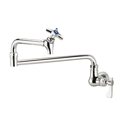"Krowne 16-182L Wall Mount Pot Filler Faucet, 24"" Jointed Spout"