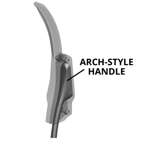 AMSafe Antimicrobial Door Arm Handle for Glass Merchandiser Doors - Arch-Style Handle Model
