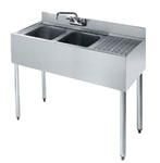 "Krowne UnderBar 2-Compartment Sink - 36"" Wide, (18-32L)"