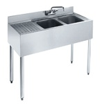 "Krowne UnderBar 2-Compartment Sink -  36"" Wide, (18-32R)"