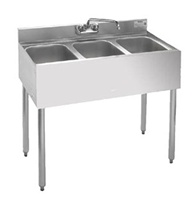 Krowne 18-33 Underbar 3-Compartment Sink