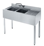 "Krowne UnderBar 2-Compartment Sink - 48"" Wide, (18-42L)"