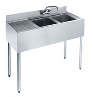 "Krowne UnderBar 2-Compartment Sink - 48"" Wide, (18-42R)"