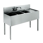 "Krowne UnderBar 3-Compartment Sink - 48"" Wide, (18-43L)"