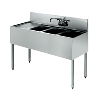 "Krowne UnderBar 3-Compartment Sink - 48"" Wide, (18-43R)"