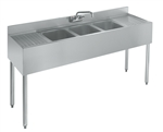 "Krowne 18-53C Three Compartment Sink - 60"" Wide"