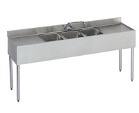 "Krowne UnderBar 3-Compartment Sink - 72"" Wide, (18-63C)"