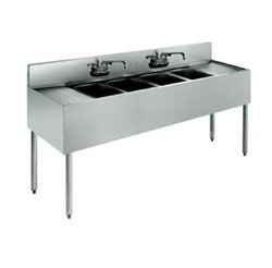 "Krowne UnderBar 4-Compartment Sink - 72"" Wide, (18-64C)"
