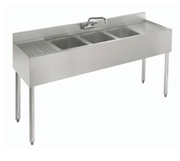 "Krowne UnderBar 3-Compartment Sink - 84"" Wide, (18-73C)"