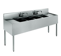 "Krowne UnderBar 4-Compartment Sink - 84"" Wide, (18-74C)"
