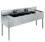 "Krowne UnderBar 4-Compartment Sink - 96"" Wide, (18-84C)"