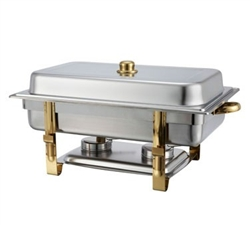 Winco Gold Accented Chafers Oblong Chafer, 8 Qt., (201)