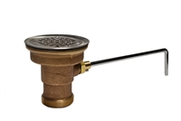 Fisher 22209 Cast Red Brass Twist Lever Waste Valve