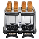 Proctor Silex 4 Slice Commercial Toaster with 1-1/2 Inch Wide Slots (Hamilton Beach 24850)