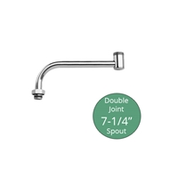 "Fisher Brass 7-1/4"" Double Joint Faucet Spout Extension, (3000-0003)"