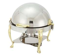 Winco 308A Vintage Chafer - Gold Plated, Round