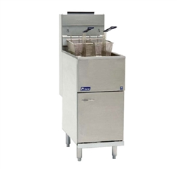 Pitco 35C+S Economy Tube-Fired Gas Fryer - 35 lb.