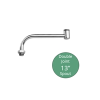 "Fisher Brass 13"" Double Joint Faucet Spout Extension, (4000-0002)"