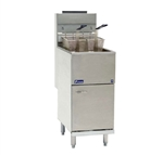 Pitco 40D Tube Fired Gas Fryer - 40 lb., 115,000 BTU