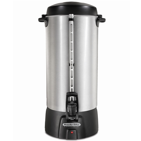 Proctor Silex 45100R Commercial 100 Cup Brushed Aluminum Coffee Urn (Hamilton Beach)