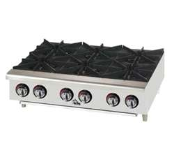 Star-Max (6) Burners Countertop Gas Hotplate, (606HF)