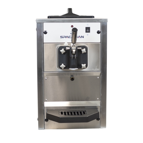 12-3/4 qt. per hr - Soft Serve Ice Cream Machine Single Flavor Countertop 110 Vac, 14 Amps (Spaceman 6210)