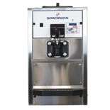36 Qts. per hr - Soft Serve Ice Cream Machine Single Flavor Countertop - Air Pump Feed with Hopper Agitator 208-230 Vac, 12 Amps (Spaceman 6228AH)