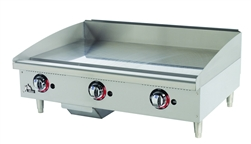 Star-Max 36-inch Gas Griddle With Thermostat Controls & Safety Pilot, (636TSPF)