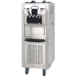 94 Qts. per hr - Soft Serve Ice Cream Machine - Two Flavor with Twist Swirl Floor Standing - Air Pump Feed with Hopper Agitators - 3-Phase 208-230 VAC (Spaceman 6378AH)