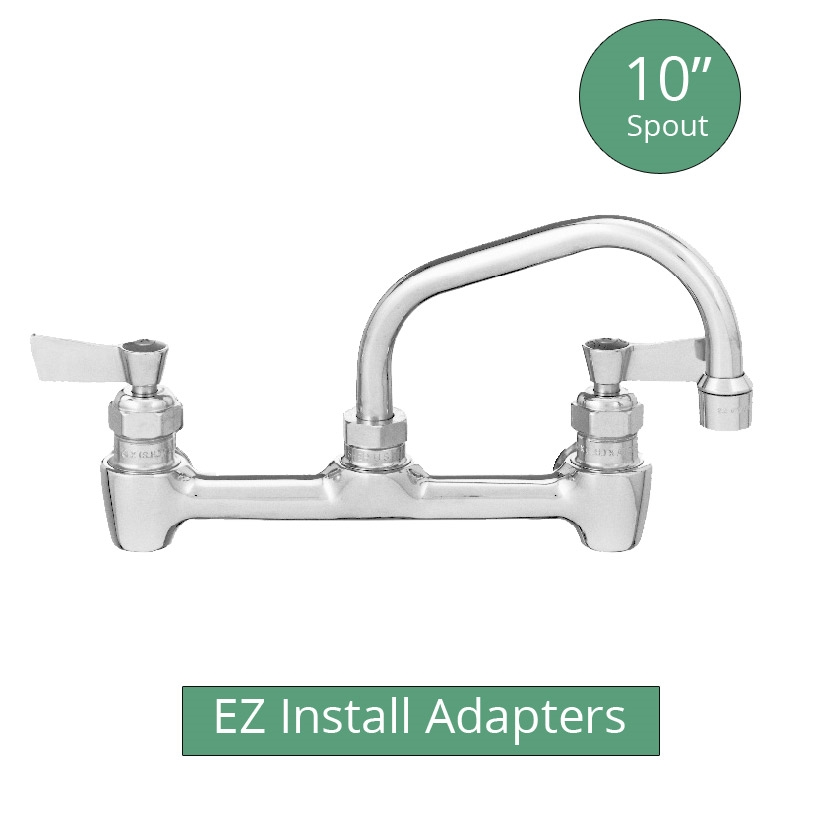 Fisher 64750 backsplash mount brass faucet with 10\