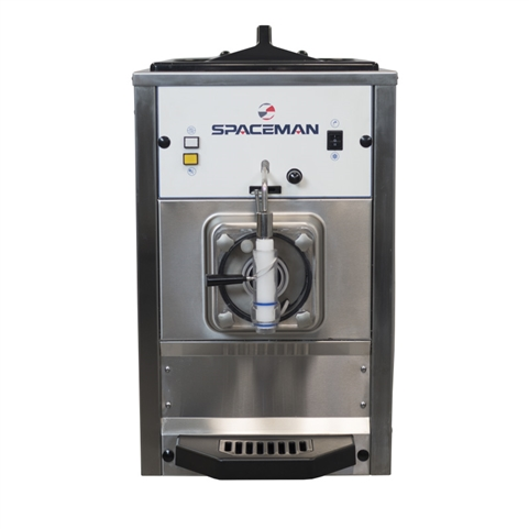 60 Qts. per hr - Frozen Beverage Machine Single Hopper Countertop Model with Hopper Agitator 208-230 VAC, 15 Amps (Spaceman 6690H)
