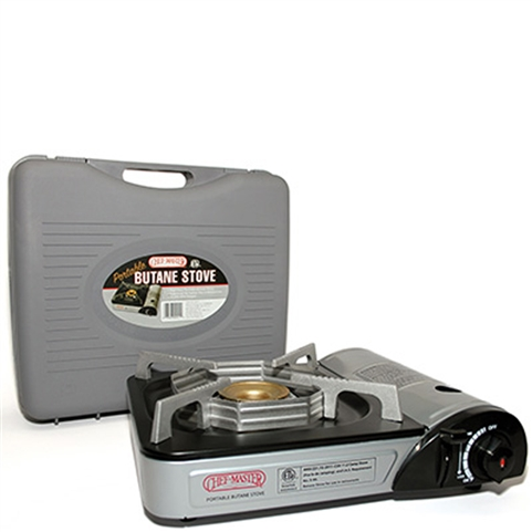 1-Burner Butane Stove Commercial Rated for Indoor Use 10,000 BTU (Chef-Master 90011)