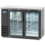 "49"" Wide Back Bar Refrigerator with 2 Glass Doors and Stainless Steel Top (Arctic Air ABB48G)"