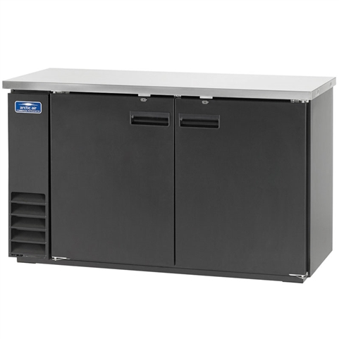"61"" Wide Back Bar Refrigerator with 2 Solid Doors and Stainless Steel Top (Arctic Air ABB60)"