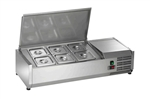 Countertop Refrigerated Prep Rail Station - 40 Inches Wide - 6 Food Pans (Arctic Air ACP40)