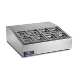 Countertop Refrigerated Prep Rail Station - 27-1/2 Inches Wide - 8 Food Pans (Arctic Air ACP8SQ)
